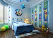 现代简约平层儿童房