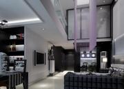 现代简约中空客厅
