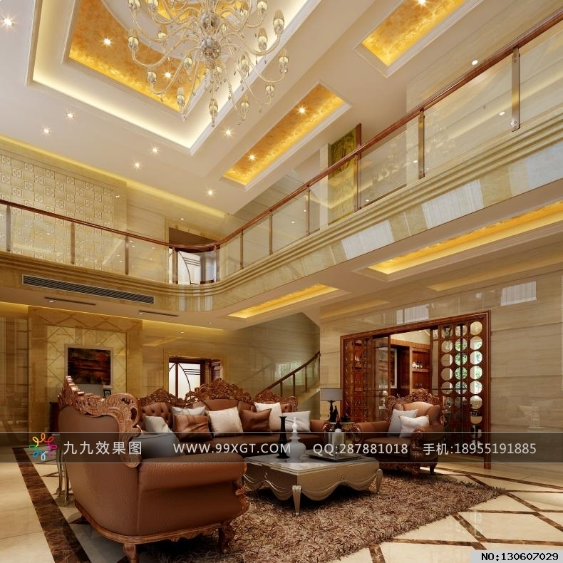 吊顶欧式中空吊顶装修中空欧式客厅装修效果欧