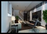 现代简约复式客厅