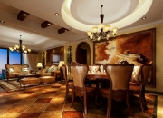 美式平层餐厅