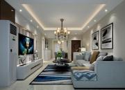 效果图风格:现代简约平层客厅