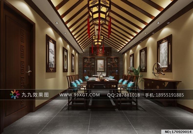 中式平层餐厅