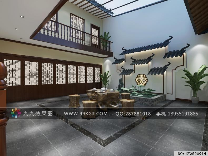 中式平层客厅