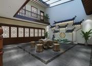 效果图风格:中式平层客厅
