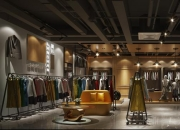 效果图风格:商业展厅服装店